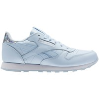Shoes Children Low top trainers Reebok Sport Classic Leather Fresh Bluewhite Light blue