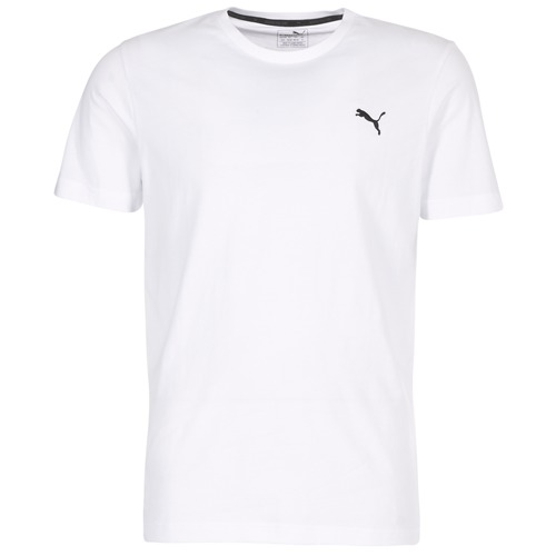 Clothing Men short-sleeved t-shirts Puma ESS TEE White