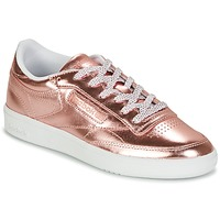 Shoes Women Low top trainers Reebok Classic CLUB C 85 S SHINE Pink / Metallic
