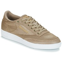 Shoes Women Low top trainers Reebok Classic CLUB C 85 METALLIC Champagne / Taupe / Beige