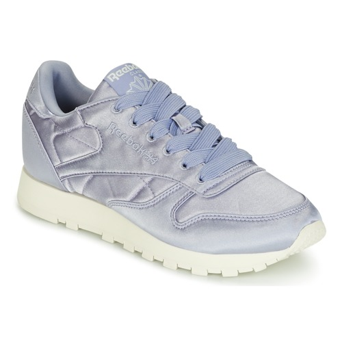 Shoes Women Low top trainers Reebok Classic CLASSIC LEATHER SATIN Purple