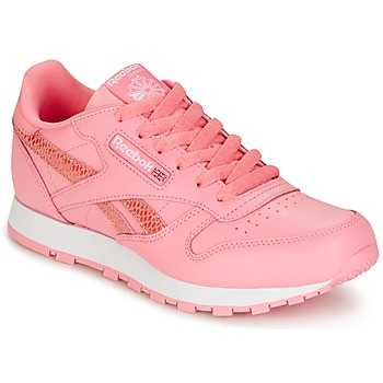 Shoes Girl Low top trainers Reebok Classic CLASSIC LEATHER SPRING Pink