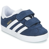 Shoes Boy Low top trainers adidas Originals GAZELLE CF I Marine