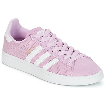 Shoes Girl Low top trainers adidas Originals CAMPUS J Pink