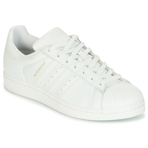 Shoes Women Low top trainers adidas Originals SUPERSTAR White / Crystal