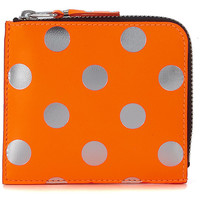 Bags Women Wallets Comme Des Garcons Comme Des Garçons orange and silver laminated leather wallet Orange