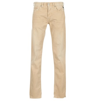 Clothing Men Straight jeans Replay GROVER Beige
