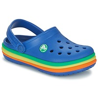 Shoes Children Clogs Crocs CB RAINBOW BAND CLOG K Blue