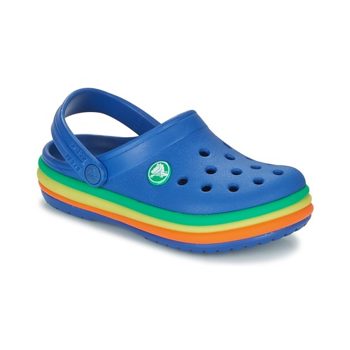 Shoes Boy Clogs Crocs CB RAINBOW BAND CLOG K Blue
