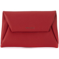Bags Women Pouches / Clutches Orciani red tumbled leather pouch Red