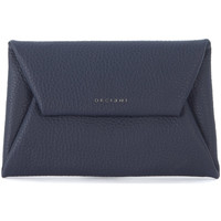 Bags Women Pouches / Clutches Orciani blue tumbled leather pouch Blue