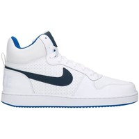 Shoes Men Ankle boots Nike Court Borough Mid White Turquoise-Navy blue-White