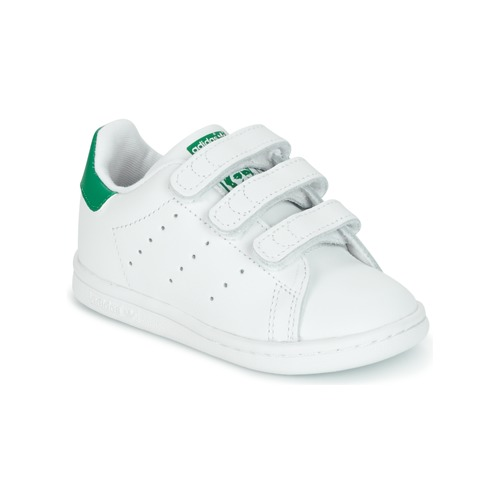 Shoes Children Low top trainers adidas Originals STAN SMITH CF I White / Green
