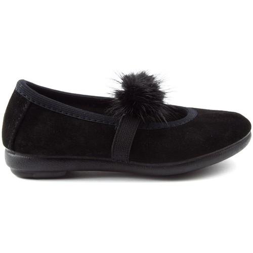 Shoes Children Flat shoes Vulladi CAN SERRAJE POMPONES BLACK