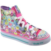 Shoes Children Hi top trainers Skechers Shuffles Pink