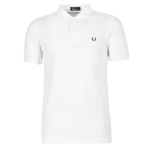 Clothing Men short-sleeved polo shirts Fred Perry THE FRED PERRY SHIRT White
