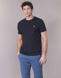 Clothing Men Short-sleeved t-shirts Fred Perry RINGER T-SHIRT Marine