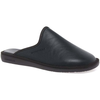 Shoes Men Slippers Nordikas Norwood III Mens Leather Slippers black