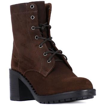 Shoes Women Ankle boots Frau QUEEN STUD MORO Marrone