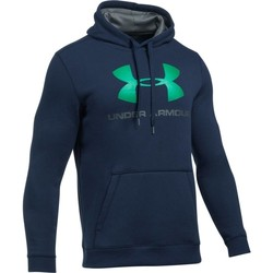 Clothing Men sweatpants Under Armour Rival Fitted Graphic Hoodie Navy blue