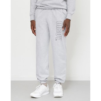 Clothing Men Tracksuit bottoms Oiboy Logo Joggers Grey Grey