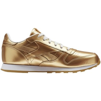 Shoes Children Low top trainers Reebok Sport Classic Leather Metallic Brass Golden