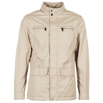 Clothing Men Parkas Geox PINOD Beige