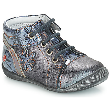 Shoes Girl Mid boots GBB ROSEMARIE Grey / Blue