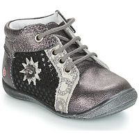 Shoes Girl Mid boots GBB RESTITUDE Silver / Black / Grey