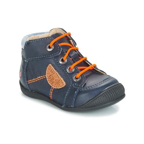 Shoes Boy Mid boots GBB RACINE Blue / Marine