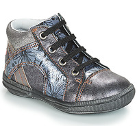 Shoes Girl Hi top trainers GBB ROSETTA Silver / Blue