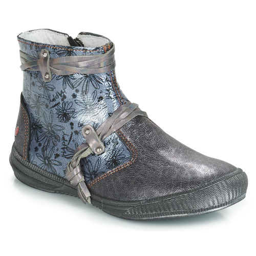 Shoes Girl Mid boots GBB REVA Grey / Blue