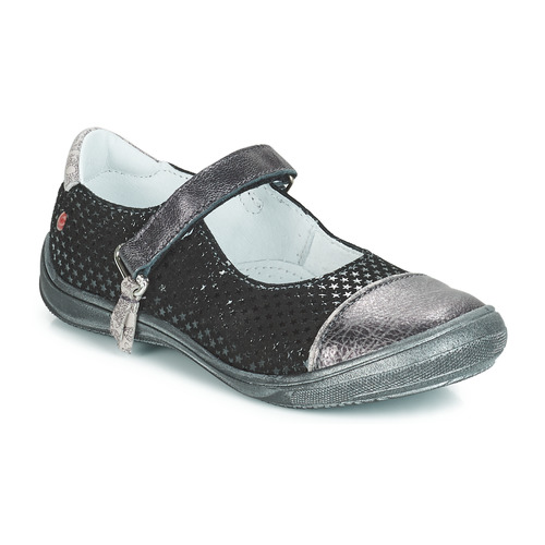 Shoes Girl Flat shoes GBB RIKA Black / Silver