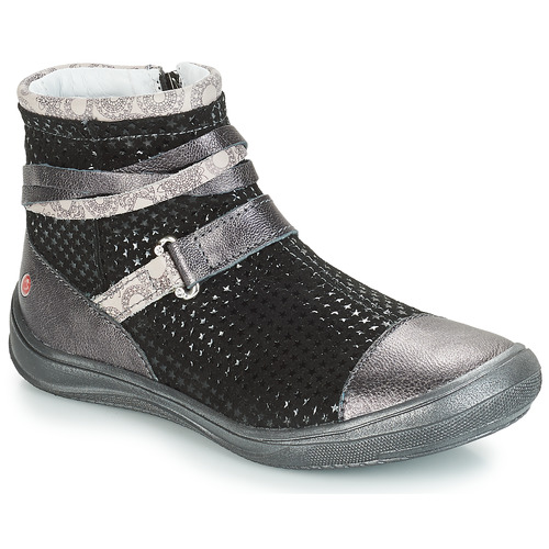 Shoes Girl Mid boots GBB ROCHELLE Grey / Black