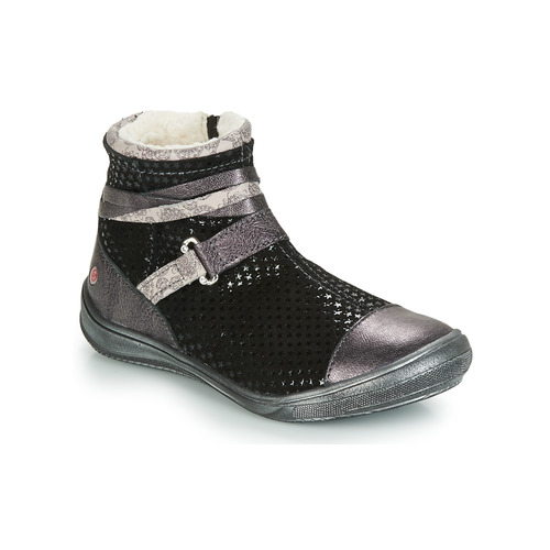 Shoes Girl Mid boots GBB ROCHELLE Black / Silver