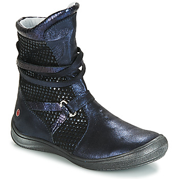 Shoes Girl High boots GBB ROSANA Blue / Black
