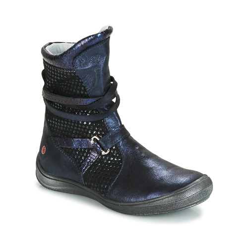 Shoes Girl High boots GBB ROSANA Blue / Black