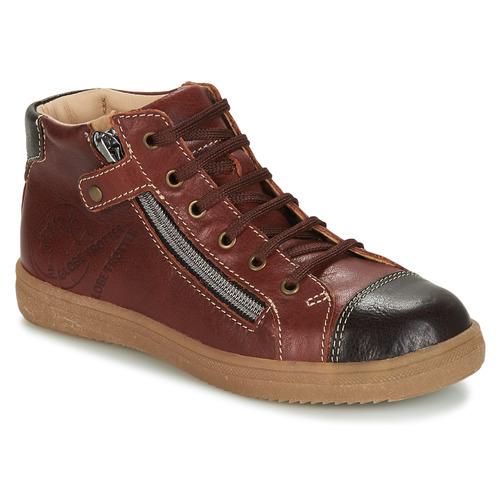 Shoes Boy Hi top trainers GBB NICO Brown