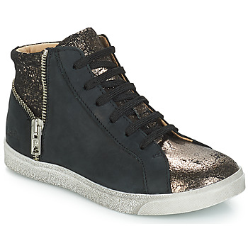 Shoes Girl Hi top trainers GBB CARLA Black / Bronze