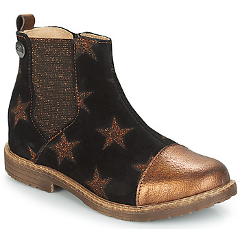Shoes Girl Mid boots GBB LEONTINA Black / Coppery