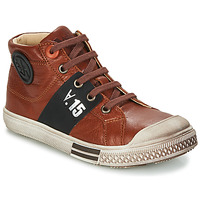 Shoes Boy Hi top trainers GBB RUFINO Brown