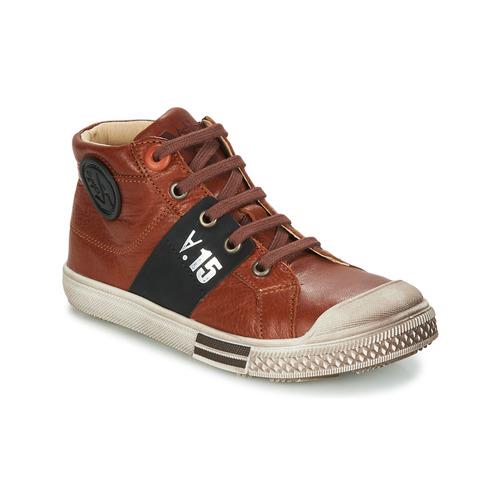Shoes Boy Hi top trainers GBB RUFINO Brown
