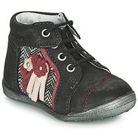 Shoes Girl Mid boots Catimini RAINETTE Black / Silver