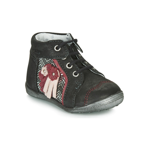 Shoes Girl Mid boots Catimini RAINETTE Black / Silver