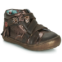 Shoes Girl Mid boots Catimini ROQUETTE Brown / Gold