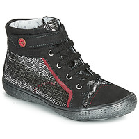 Shoes Girl Hi top trainers Catimini ROSIERE Black / Silver