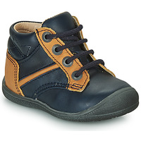 Shoes Boy Mid boots Catimini RATON Marine / Ocre tan