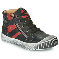 Shoes Boy Hi top trainers Catimini RAMBOUTAN Black / Red