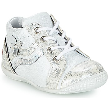 Shoes Girl Hi top trainers GBB SHINA White / Silver
