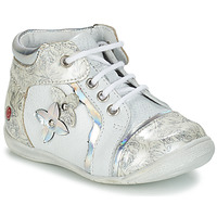 Shoes Girl Mid boots GBB SONIA White / Silver